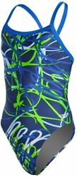 Swimsuit Girls 8 24 Speedo Pro Girls Spiral Curve Flyback Youth NEW FREE SHIP $14.00