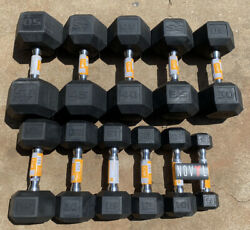 CAP amp; Weider Rubber Hex Dumbbells 5 50 lbs Lot ✅ Choose Singles or Pairs $149.95