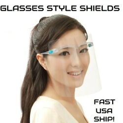 Face Shield/Full Protection Cover/Clear or Colored Frame/Protector/Reusable/Lot  $26.95
