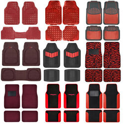 Red All Weather Heavy Duty Universal Car Floor Mats for Auto Van Truck SUV $22.70