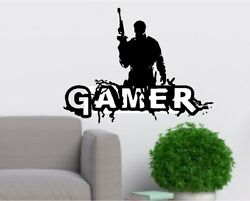 Gamer Wall Room Decor Art Vinyl Sticker Mural Decal Word Home Decor Kids Room $12.99