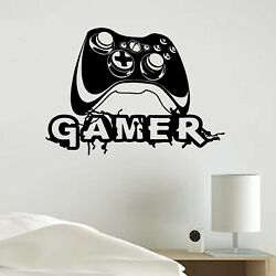 Video Gamer Vinyl Decal Sticker Xbox JoyStick Wall Room Decoration skin $16.99