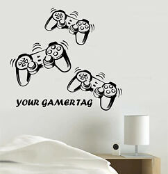 Video Game Vinyl Decal Sticker PlayStation joystick Wall Room Decoration skin $13.99