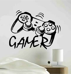 Video Gamer Vinyl Decal Sticker PlayStation JoyStick Wall Room Decoration skin $16.99