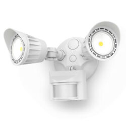 DUAL HEAD LED SECURITY OUTDOOR LIGHT FLOODLIGHT 20W=150W MOTION SENSOR 2000 Lm