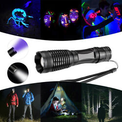 LIVABIT Tactical Ultra Bright Rechargeable Zoom LED Flashlight with UV Light $9.99