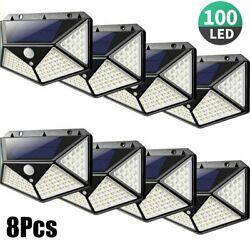 Waterproof 100 LED PIR Motion Sensor Wall Light Solar Power Outdoor Garden Lamp $5.99