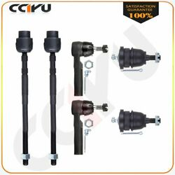 6pieces Front Lower Ball Joints Inner Outer Tie Rods Kit For 1985-1993 Cadillac $33.99
