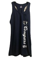 WOMEN#x27;S COLLEGE TANK SKIRT DRESS MEDIUM Navy Blue