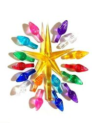 27 Sm Twist Bulbs 9 COLORS Gold Medium Star for Ceramic Christmas Tree $5.49