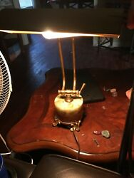 Beautiful Old Antique Vintage Marble Base Bankers Student Office Desk Lamp $129.99