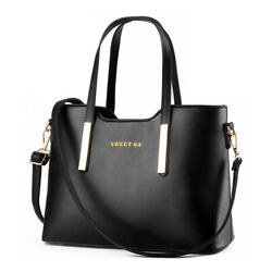 Women#x27;s Handbag Leather Messenger Shoulder Tote Bag Purse Crossbody Satchel $17.88