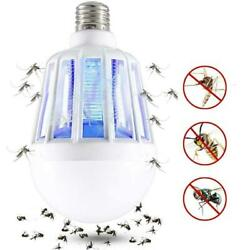 Mosquito Lamp Bug Zapper Light Bulb Fly Trap Killer Indoor Insect Led E5E4 $3.78