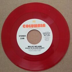 Willie Nelson quot;Rudolph The Red Nosed Reindeerquot; and quot;Pretty Paperquot; red vinyl DJ $6.99