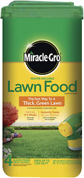 Miracle Gro Lawn Fertilizer 5 Lbs Water Soluble Fast Grow Thick Green Grass Food $22.48