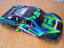 Traxxas 1/10 Slash Green Blue Black Painted Body 4wd 2wd 4x4 SCT VXL XL5 Shell $45.99