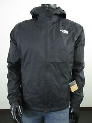 Mens TNF The North Face Boreal Dryvent Waterproof Hooded Rain Jacket Black $89.96
