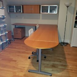 Home Office Desk Furniture Workstation Modern Style L shape 8 pieces.  $850.00
