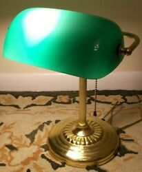 ANTIQUE STYLE BANKERS DESK LAMP $15.00