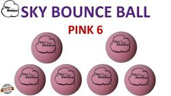6 SKY BOUNCE PINK COLOR HAND BALLS RACKET BALL RACQUETBALL TAIWAN $10.95