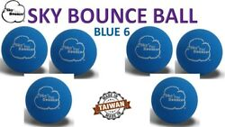 6 SKY BOUNCE BLUE COLOR HAND BALLS RACKET BALL RACQUETBALL TAIWAN $10.95