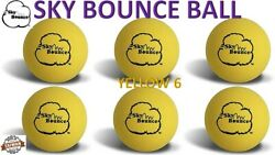 6 SKY BOUNCE YELLOW COLOR HAND BALLS RACKET BALL RACQUETBALL TAIWAN $10.95