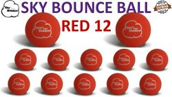 12 SKY BOUNCE RED COLOR HAND BALLS RACKET BALL RACQUETBALL TAIWAN $17.95