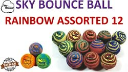 12 SKY BOUNCE RAINBOW COLOR HAND BALLS RACKET BALL RACQUETBALL TAIWAN $17.95