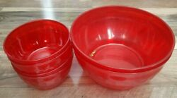 Large Exterior Use Patio Picnic Serving Bowls 2 Large 4 Small Free Shipping