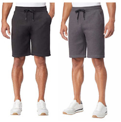 32 DEGREES Mens Men#x27;s Short 2 Pack Color Grey and Black XL W Defects $16.99