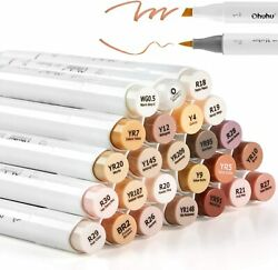 24 Skin-Tone Colors Alcohol Markers Alcohol-based Brush Markers Alcohol Marker  $29.99