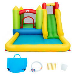 Inflatable Bounce House Water Slide Jumper w Climbing Wall amp; Splash Pool $217.75