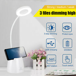 LED Dimmable 3 Color Modes Touch Sensor Desk Lamp Table Light Eye-Caring Reading $18.97