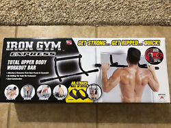 Iron Gym Express Upper Body Workout Bar Doorway Pull Up Chin Up Sit Up Push Up $40.00