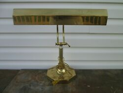 Brass Piano Bankers Desk Lamp Light Adjustable 16
