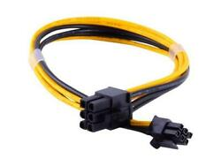 3 pack Male 6 pin to 6 pin PCI e Power Cable for Video GPU Cards Miners pcie $9.00