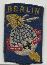 German Made One Piece Airways Communication System Berlin District Patch $63.55