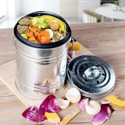 3L Kitchen Compost Bin Bucket Outdoor Indoor Odorless Countertop Pail Black New $29.49