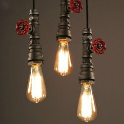 Vintage Water pipe Industrial Hanging Decor Ceiling Lamp Shade Pendant Light $30.29