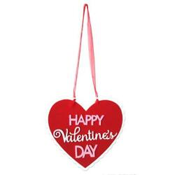 Happy Valentine Day Non woven Fabric Wall Hanging Board Home Plaques Signs 3 $5.42