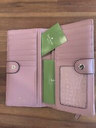 $119 Kate Spade Laurel Way Stacy Bifold Saffiano Wallet Color Dusty Peony EUC $38.00