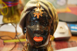 RARE ANTIQUE LAMP AFRICAN LADY $150.00