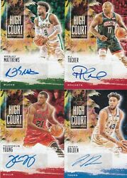 LOT of (4) NBA Veterans 2019-20 Panini Court Kings High Court Gold Ruby AUTO /99 $9.00