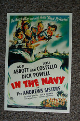 Abbott & Costello In the Navy Lobby Card Movie Poster  $4.00