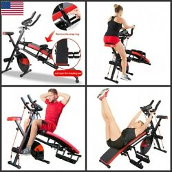 Combination Fitness Machine Indoor Cycling Bike Abdominal Trainers Push Ups Work $249.71