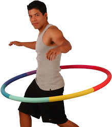 Hula Hoop Fitness Exercise Abs Workout 41Inches Wide With No Wavy Ridges Rainbow $66.68