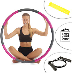 Hula Hoop Fitness Exercise Abs Workout With Internal Padded Soft Foam Adjustable $51.63