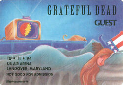 Grateful Dead  _RARE_ 10111994 Landover US Air Arena Backstage Pass - Reonegro