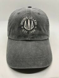 Rhodes College Est 1888 Memphis TN Cap Hat Adult Adjustable Gray Cotton $20.00