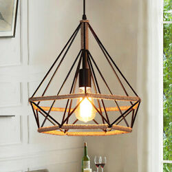 Plug in Metal Pendant Light Fixture Vintage Industrial Cord Hanging Ceiling Lamp $39.99